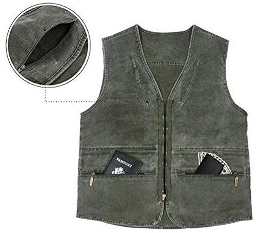 Gilets Sports Multi Jiinn Waistcoat Classique poches Outdoor Coton Veste Manches Hommes Gris Jacket Sans Mens Printemps Été Photography ZfA4n