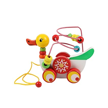 1 juego clásico Duck Duck Tire juguete de madera Ruta de ...