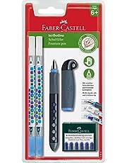 Faber-Castell 149845 Schulfüller Scribolino 2 Tintenlöscher, Tintenpatronen, für Rechtshänder, Feder- A, Farbe nicht wählbar
