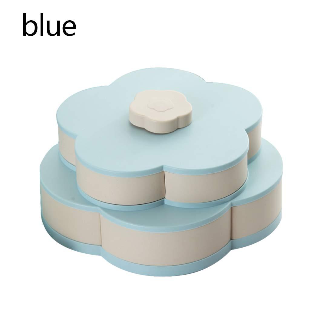 gemeereer qt Caja de Almacenamiento de pl/ástico para Semillas Nueces Caja de Frutas de Caramelo seco Plum Type Lunch Container para ni/ños Protect Fruit Case Organizer
