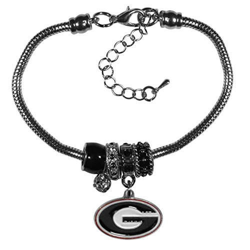 Georgia Bulldogs Bracelets - Siskiyou NCAA Georgia Bulldogs Euro Bead Bracelet