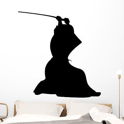 Amazon.com: Wallmonkeys Samurai Ninja Silhouette Wall Decal ...