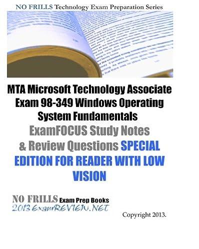mta microsoft technology associate exam 98 349 windows operating rh amazon com Microsoft MTA Logo microsoft mta networking fundamentals study guide