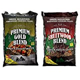 Green Mountain Grills Premium Gold Blend Pure Hardwood Grilling Cooking PelletsGreen Mountain Grills Premium Fruitwood Pure Hardwood Grilling Cooking Pellets