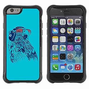 "A-type Arte & diseño Anti-Slip Shockproof TPU Fundas Cover Cubre Case para 4.7"" iPhone 6 ( Cool Sunglasses Owl )"