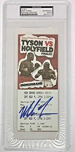 Mike Tyson Autographed Signed 1997 Tyson vs Holyfield Un Used Fight Ticket PSA/DNA Authentic
