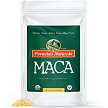 Organic Maca Powder 1lb (453g) - Peruvian Naturals | certified-organic, raw Maca root powder, energy supplement