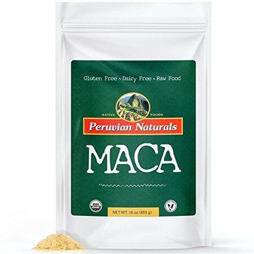 Bio Maca en Poudre 2 lb (907g) - Péruvienne Naturals | certifiés biologiques, crus, la racine de Maca en poudre, le supplément d'énergie