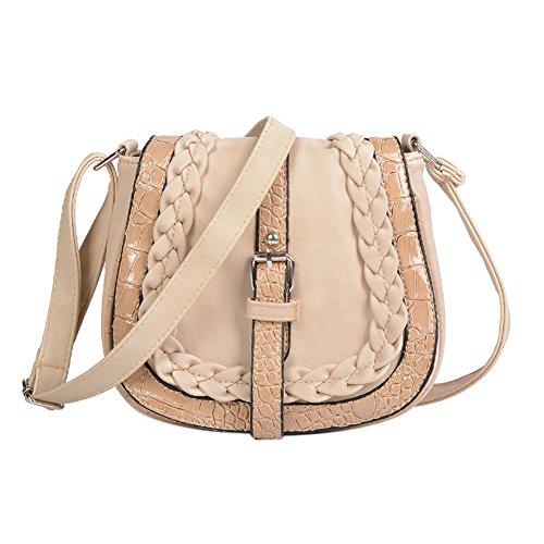 Bandoulière Cabina La à Sac Crossbody Sac Bag PU Beige d'épaule Fille Classique Vintage Cuir Femmes en qtTdAwdUx