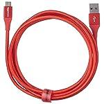 AmazonBasics-Cavo-da-USB-20-A-a-micro-B-in-nylon-a-doppio-intreccio-18-m-Rosso