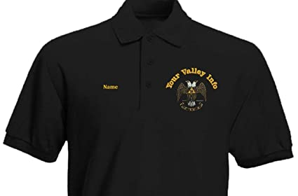 214867f87 Custom Embroidered Men s Polo Shirt with Scottish Rite 32nd Degree emblem