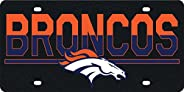 Denver Broncos Duo-Tone Black Deluxe Laser Cut Acrylic Inlaid License Plate Tag Football