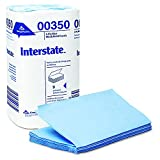 Interstate GPC 003-50 10.250'' Length, 9.500'' Width 2-Ply Singlefold Windshield And Auto Care Paper Towel