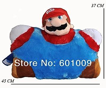 Amazon.com: Super Mario Bros Mario cojín almohada Plush ...