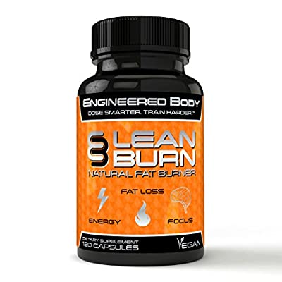 Engineered Body LEAN BURN Natural Thermogenic Fat Burner - Weight Loss Supplement for Men and Women - 2807 mg Per Serving - 120 Vegan Pills