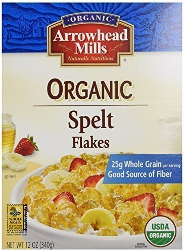 Arrowhead Mills Spelt Flakes (Arrowhead Mills Organic Spelt Flakes Cereal 12 OZ ( pak of)