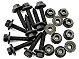 Retro-Motive Volvo Body Bolts & Flange Nuts- M6-1.0mm x 35mm Long- 10mm Hex- Qty.10 ea.- #394