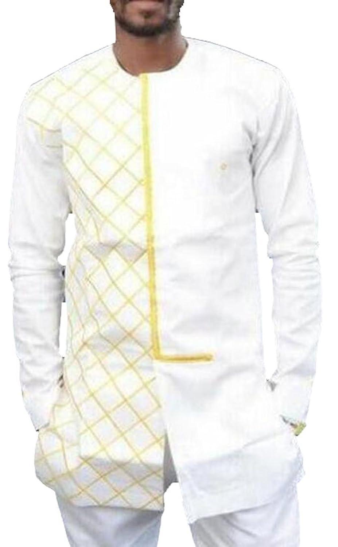 XTX Men's Fashion Solid Color Tops Slim Long Sleeve T-shirt