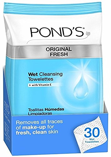 Amazon.com: Ponds Original Fresh Wet Cleansing Towelettes Bundle, Two 30-Count and Two 5-Count Packs: Beauty