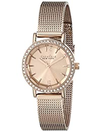 Bulova 44L158 Caravelle New York Women's Quartz Analog Watch with Rose Gold Dial and Stainless Steel Bracelet