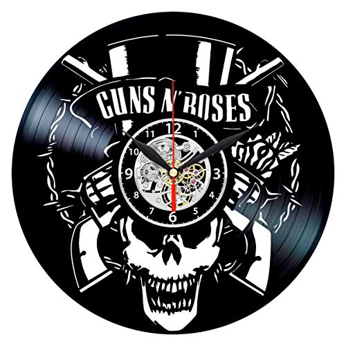 Guns N Roses Vinyl Clock – Vintage Record Wall Decor – Rock Band Themed Gifts