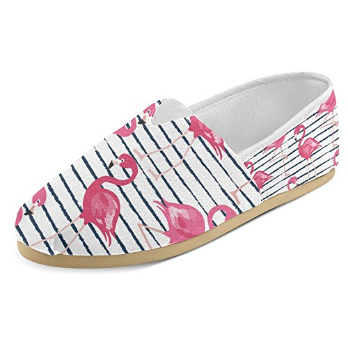 Interestprint Womens Loafers Klassiska Avslappnade Kanfassnedsteget På Mode Skor Gymnastik Mary Jane Platta Flamingo 4