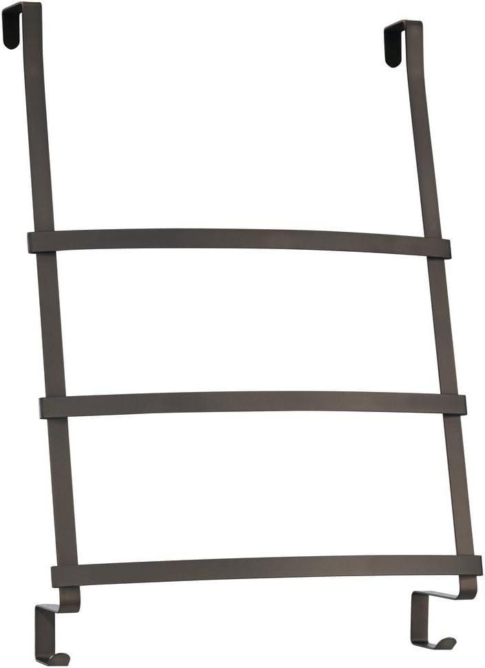 InterDesign Toallero Escalera, para Colocar sobre Perfil de Puerta, Acero, Bronce, 42.7x16.7x61.3 cm: Amazon.es: Hogar