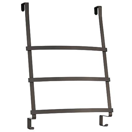 Ordinaire InterDesign Gia Over The Door Towel Rack With 3 Bars For Bathroom   Bronze