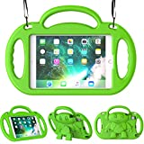 TIRIN Kids Case for iPad Mini 1 2 3 4 5 - iPad Mini Kids Case - Shock Proof Smart Handle Stand Kids Case with Shoulder Strap for iPad Mini - iPad Mini 2nd - 3rd - 4th Gen - iPad Mini 5th Gen 2019 - Green