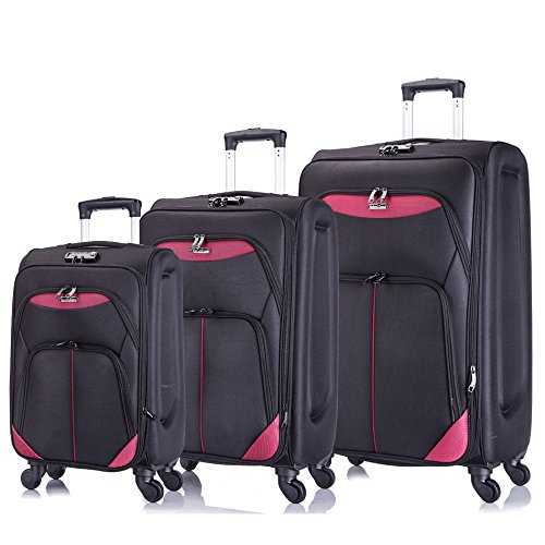 3 PC Luggage Set Durable Lightweight Spinner Suitecase - Bags Garment Sets Luggage