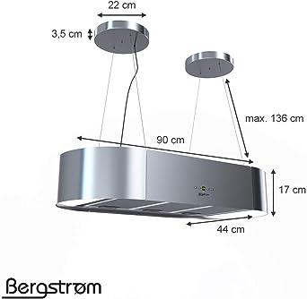 Campana extractora KLAAS de Bergstruum, colgante, ovalada 60 cm Edelstahl (Gebürstet): Amazon.es: Grandes electrodomésticos