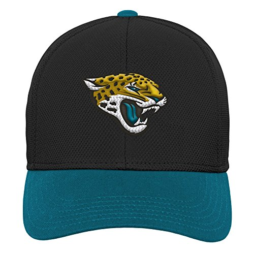 Outerstuff NFL NFL Jacksonville Jaguars Youth Boys Velocity Structured Snap Hat Black, Youth One Size