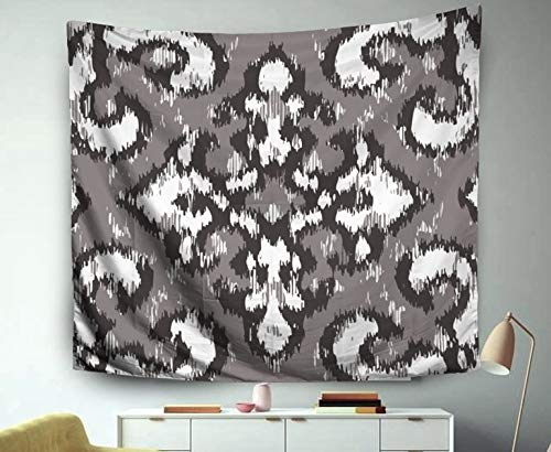 Asdecmoly Tapestry Wall Hanging, Tapestry Wall Hanging Living Room Bedroom 60 Lx50 W Inches Distressed Damask Pattern Art Printing Inhouse ()
