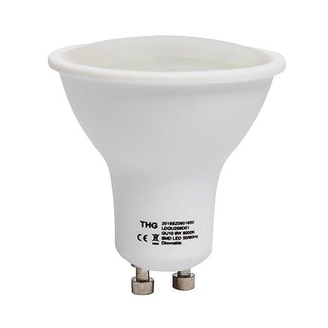 THG 10 x Regulable Bombillas LED GU10 6W, 350Lm, Equivalente a 30Watt Lámpara Incandescente
