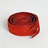 Wire Glitter Ribbon Color: Red