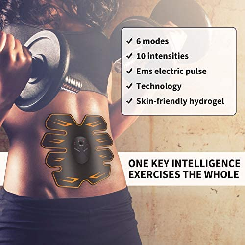 Abs Stimulator Workout Equipment for Home Workouts, Muscle Toner - Abs Stimulating Belt- Abdominal Toner- Training Device for Muscles- Wireless Portable to-Go Gym Device- Fitness Equipment, Black 6