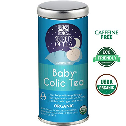 Baby Colic Tea - Digestive & Colic Prevention Herbal Tea - Soothes Acid Reflux, Newborn Tummy Digestion, Promotes Better Sleep - Calming, Safe & Healthy Colic Relief Tea - 20 Count (Best Remedy For Newborn Gas)