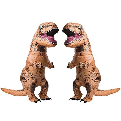 Jurasic World T Rex Adult Inflatable Costume 2 Pack Bundle Set
