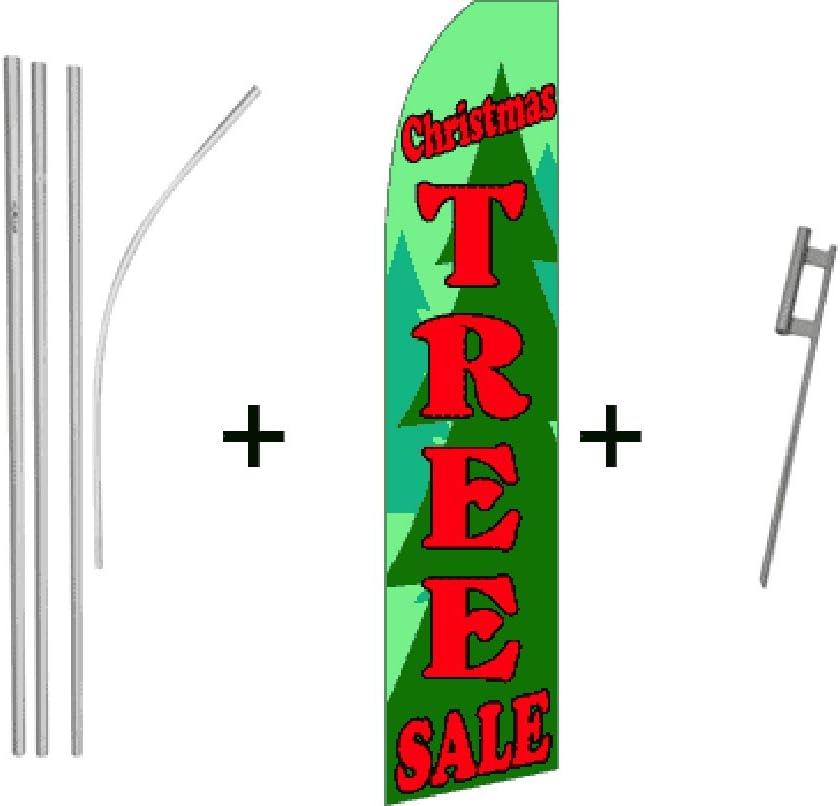 Christmas Tree Sale Quantity 5 Super Flag /& Pole Kits