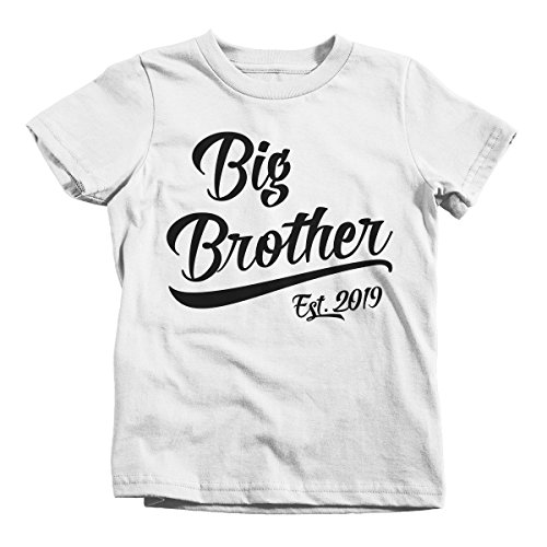 d729c089 Amazon.com: Shirts By Sarah Boy's Big Brother EST. 2019 T-Shirt Promoted to  T-Shirt: Clothing