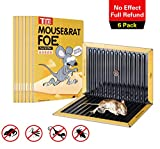 T Box Mouse Glue Traps, Wavy Shape Glue& Black Glue Board,6 Pack Extra Large Sticky Rat Glue Traps, Peanut Butter Scented Glue Traps for Mice, Perfect Use for Indoor and Outdoor.