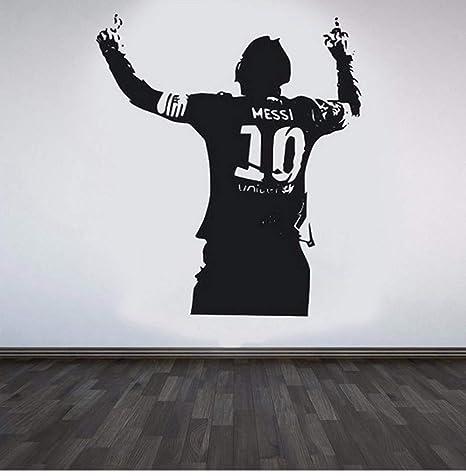 Dormitorio Etiqueta de La Pared Negro Pvc Gran Estrella de Fútbol ...