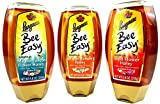 Langnese Bee Easy Honey 3-Flavor Variety: One 8.8 oz Squeeze Bottle Each of Wild Flower, Mediterranean Flower, and Orange Blossom in a BlackTie Box (3 Items Total)