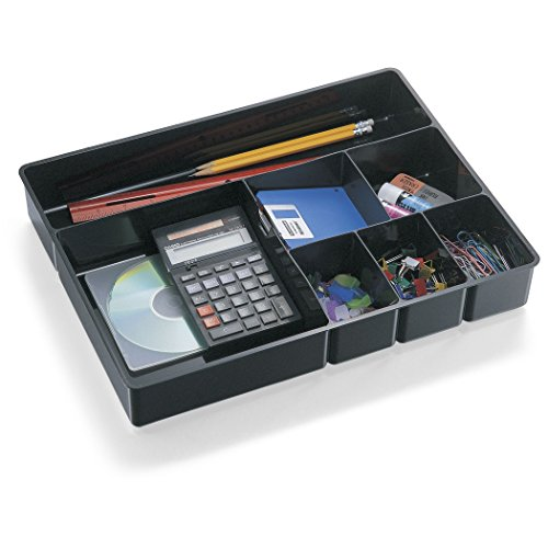 Officemate Deep Drawer Tray, Black (21322) (Organizer Black Drawer)