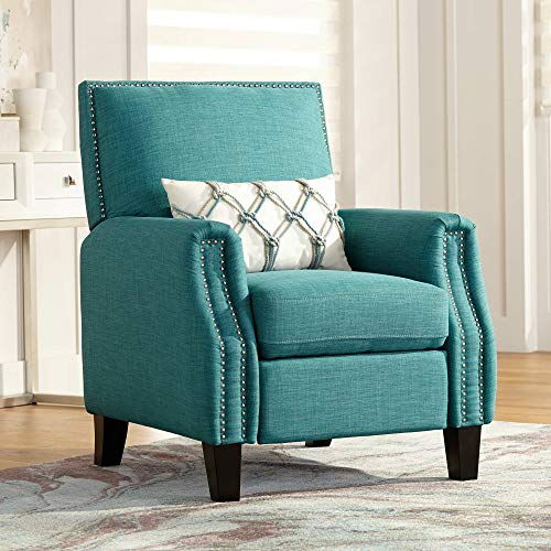 Romeo Heirloom Teal 3-Way Recliner Chair - Studio 55D Deep Seating Reclining Club Chair