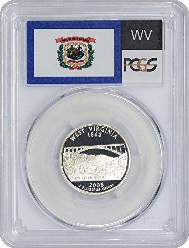 - 2005 S West Virginia State Silver Quarter PR70DCAM PCGS