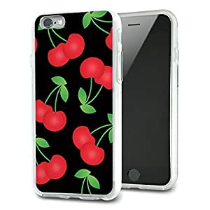 Cherries Pattern Black Slim Fit Hybrid Case Fits Apple iPhone 6