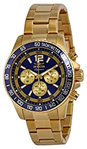Invicta Mens Signature II Collection Chronograph Gold Tone Stainless Steel Bracelet Watch 7410