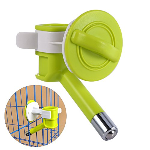[Pet Water Nozzle Pet Water Dispenser Automatic Plastic Nozzle Drinker Waterer Hanging Fountain Feeder (Green)] (Plastic Pet Waterer)