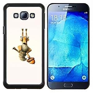 Stuss Case / Funda Carcasa protectora - Ardilla divertida y Tuerca - Samsung Galaxy A8 A8000
